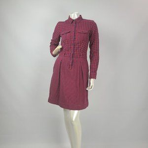 Brooks Brothers Red Fleece Dress Size 2